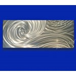 "60"" x 24"" Silver Ocean Dance  (select size)"