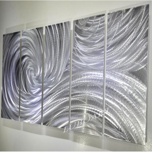 64x24 Silver Ocean Dance