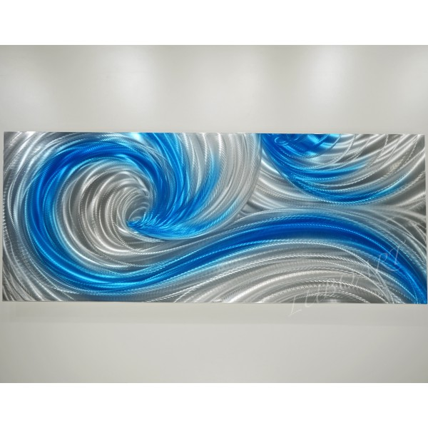 "60"" x 24""  Icy Ocean Dance  (or select size)"