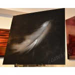 """24"""" x 24""""   The Feather"""