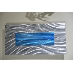 """Blue Silver - 12"""" x 24"""""""